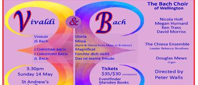 Bach Choir Wellington - Vivaldi Gloria, JS Bach Missa
