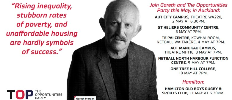Gareth Morgan's Opportunities Party St Heliers Talk
