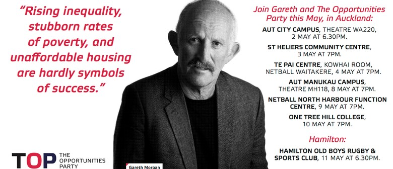 Gareth Morgan's Opportunities Party West Auckland Talk