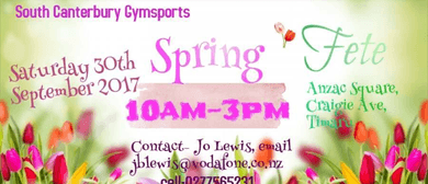 South Canterbury Gymsports Spring Fete