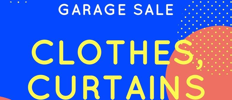 Garage Sale (Clothes, Curtains, Books)