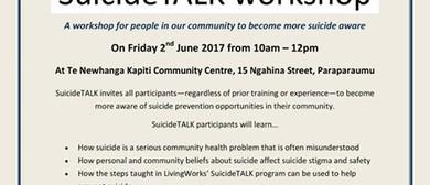 SuicideTALK Workshop