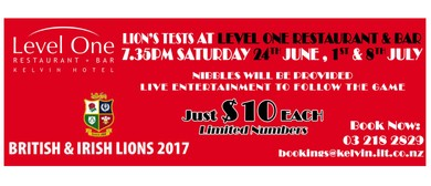 The Lion's Test Matches Followed by Live Music