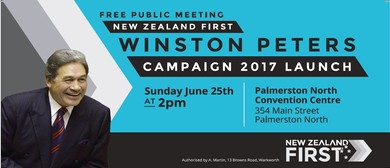 New Zealand First Campaign Launch