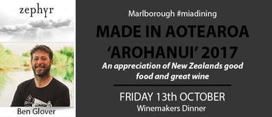 Made In Aotearoa Arohanui - Ben Glover Zephyr Wines