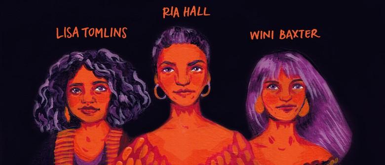 Ria Hall, Lisa Tomlins, Wini Baxter with Virtuoso Strings