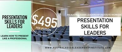 Presentation Skills For Leaders