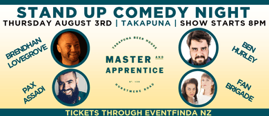 Master & Apprentice Stand Up Comedy Night
