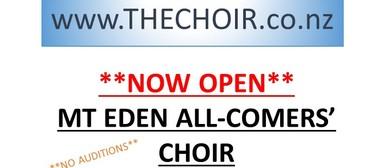 Now Open - Mt Eden All-Comers' Choir
