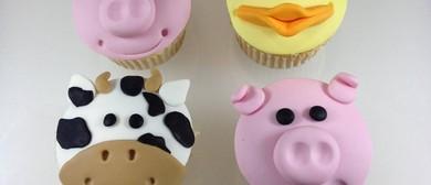 Farm Animal Fondant Cupcake Decorating