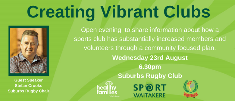 Sport Waitakere -  Creating Vibrant Clubs Evening