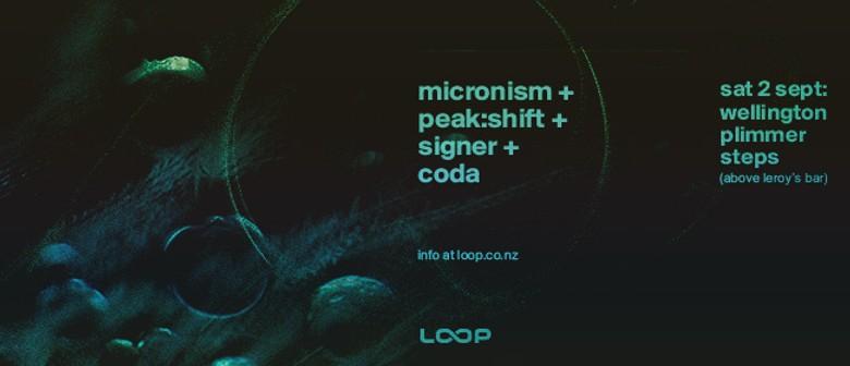Micronism + Peak:Shift + Signer + Coda