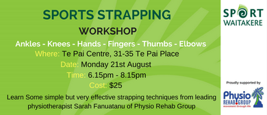 Sport Waitakere - Strapping Workshop