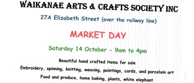 Waikanae Arts and Crafts Society Market Day