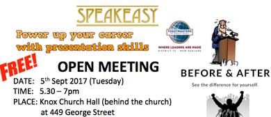 Speakeasy Toastmasters Open Meeting