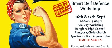 Women's Street Smart Free Self Defence 2 Day Workshop: CANCELLED