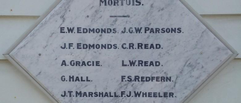 WW1 Memorial Tablet Dedication