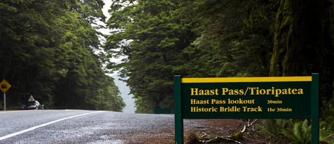 Long Road over Haast Pass - Roadside Stories
